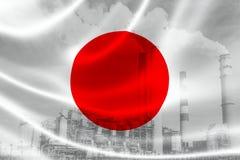 Industriell förorening i Japan royaltyfri illustrationer