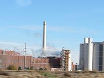 industriell fabrik Arkivbild