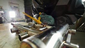 industriell fabrik  långsam rörelse stock video