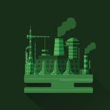 Industriell fabrik V 12 Arkivbilder