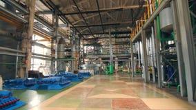 Industriell fabriksinre Bearbeta fabriken inom Inre fabriksutrustning lager videofilmer
