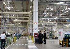 Industriell fabriksplats Fotografering för Bildbyråer