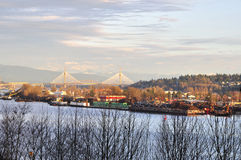 industriell flod för område Arkivfoto