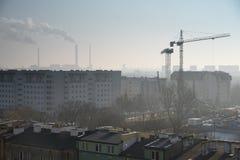 Industriell framsida av staden Royaltyfria Bilder