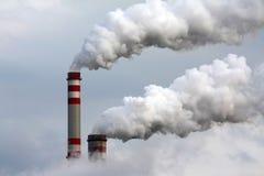 industriell förorening Arkivfoto