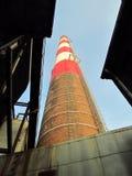 industriell gammal röd white för lampglas Arkivfoton