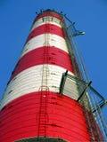 industriell gammal röd white för lampglas Arkivfoto