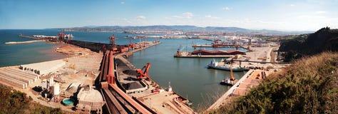 industriell hamn arkivfoto