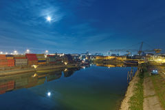industriell hamn Arkivbild