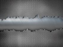 Industriell illustration för metallspisgallerbakgrund 3d stock illustrationer