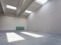 industriell interior för tom korridor Arkivbilder