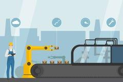 Industriell internet av saker vektor illustrationer