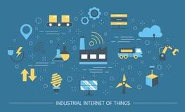 Industriell internet av sakerbegreppet Affärsautomation royaltyfri illustrationer
