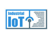 Industriell internet av sakerkänneteckenvektorn stock illustrationer