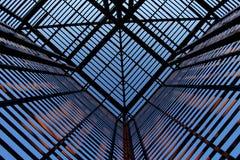 industriell intressant metallstruktur Arkivfoto