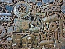 Industriell kugghjultextur Arkivbilder