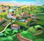 industriell liggande ovanför sikt Arkivbilder