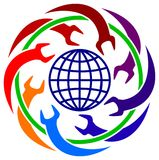 industriell logo stock illustrationer