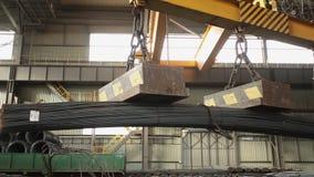 Industriell magnet som förlägger stålstänger inom lagerskyttealonsiden stängerna, m/s lager videofilmer