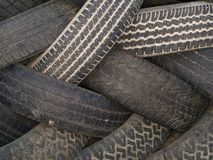 Industriell makrotextur - - gummihjul Royaltyfri Foto