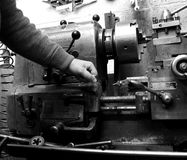 Industriell maskin som fungerar D Royaltyfri Foto