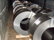 Industriell metall rullar ihop maskineriväxten royaltyfri foto