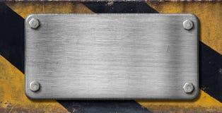 industriell metallplatta för bakgrund royaltyfria foton