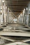 Industriell metallstruktur Arkivfoton