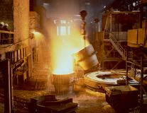 industriell metallurgy Royaltyfri Fotografi