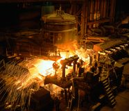 industriell metallurgy Royaltyfria Bilder