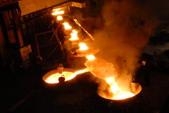 industriell metallurgy arkivfoton