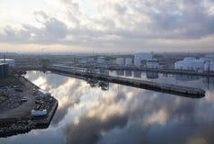 Industriell morgon i Florida Arkivfoto