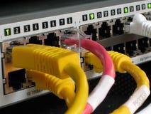 industriell nätverksströmbrytare för Ethernet Fotografering för Bildbyråer