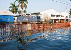 industriell nakorn nava thailand för fabriksflod Arkivbilder