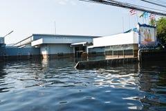 industriell nakorn nava thailand för fabriksflod Royaltyfri Foto