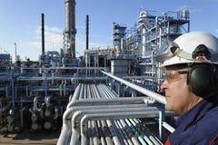 industriell olja för bränslegas Arkivbilder