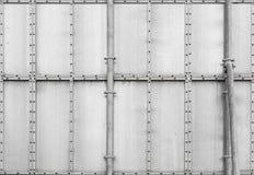Industriell panel för grå metall. Bakgrundstextur Arkivfoto