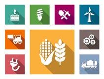 Industriell plan symbolsuppsättning Arkivfoto