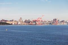 Industriell port av Halifax Nova Scotia Arkivfoton