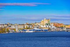 Industriell port av Stockholm Royaltyfri Fotografi