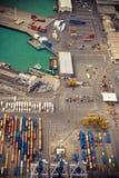 industriell port för område Arkivfoton