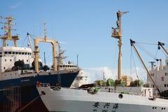Industriell port i Las Palmas Royaltyfri Foto