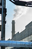 Industriell rök från fabrik Royaltyfri Foto