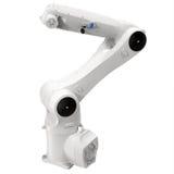 Industriell robotic arm på den vita illustrationen 3D Arkivfoto