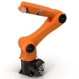 Industriell robotic arm på den vita illustrationen 3D Royaltyfria Foton