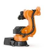 Industriell Robotic arm som isoleras på vit 3D illustration, snabb bana Royaltyfria Foton