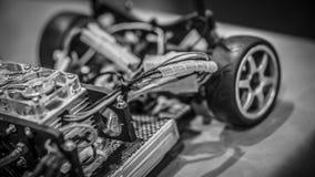 Industriell Robotic bil för konkurrensfördelar royaltyfria foton