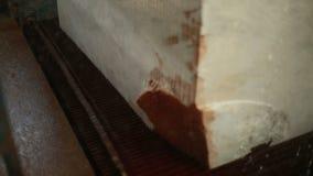 Industriell sah Ausschnitt-Marmor-Block stock video footage