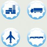 industriell set för symboler Royaltyfria Bilder
