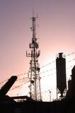 industriell silhouette royaltyfria bilder